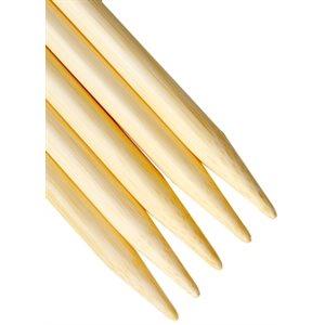 Aiguille Double Pointes Bambou 5'' (13cm) - Naturel EN RABAIS