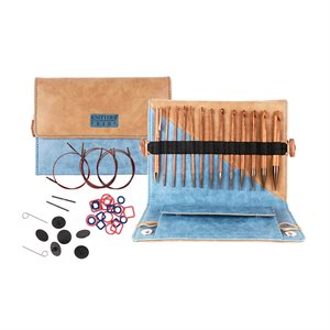 Complet Tunisian Interchangeable Crochet Hook Kit Wood