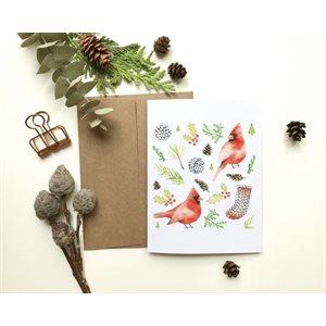 Carte de Souhait - Cardinaux de Noël