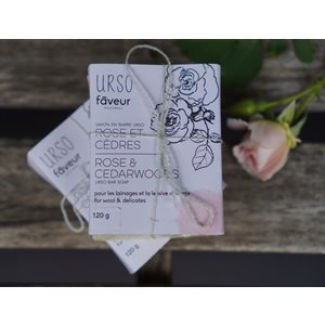 Faveur Urso - Savon en barre - Rose & Cèdres