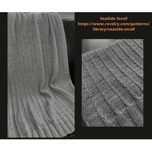 Prêt-à-Tricoter - Couverture SeaSide Stroll - Silver