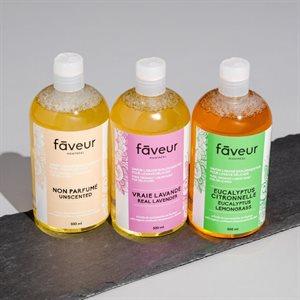 Savon Liquide Bio, Lessive Délicate - Eucalystus / Citronelle 500ml